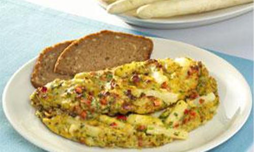 Lunch gerecht asperge-omelette
